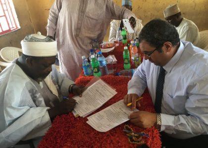 توقيع بروتوكول تعاون بين المؤسسة ومؤسسة مدينة الاحباب والتلاميذ – طيبة – لتحفيظ القران والدراسات الاسلامية