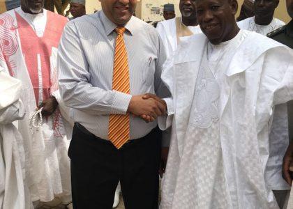 حاكم ولايه كانو بدوله نيجيريا في زياره الي مشروعات مؤسسة الفجر الخيرية